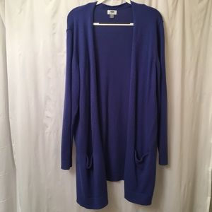 Blue Cardigan with Pockets